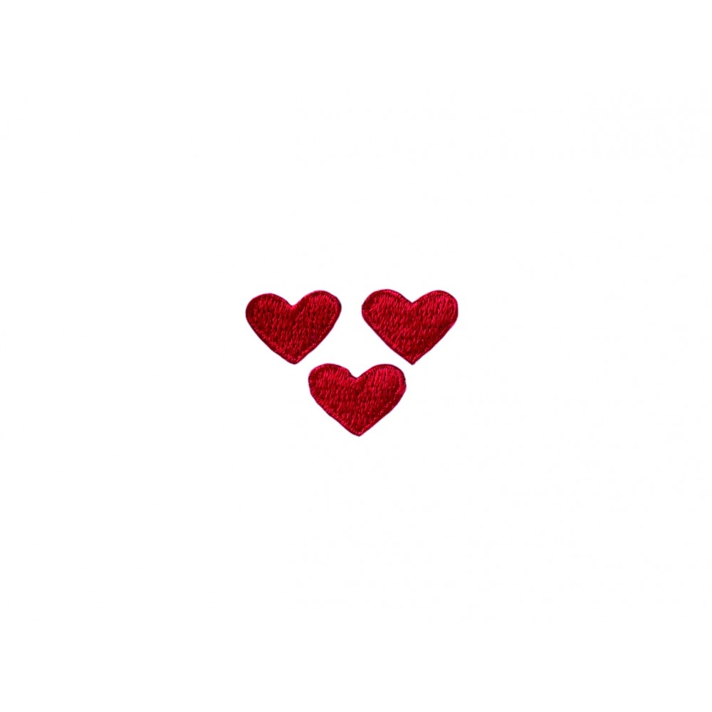 Herz rot 3 Stk.