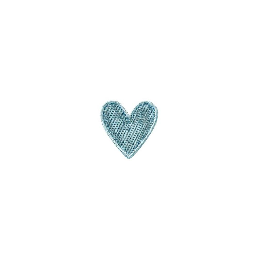 Coeur jean bleu clair
