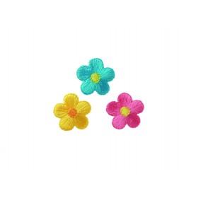 Blüten blau, pink, gelb