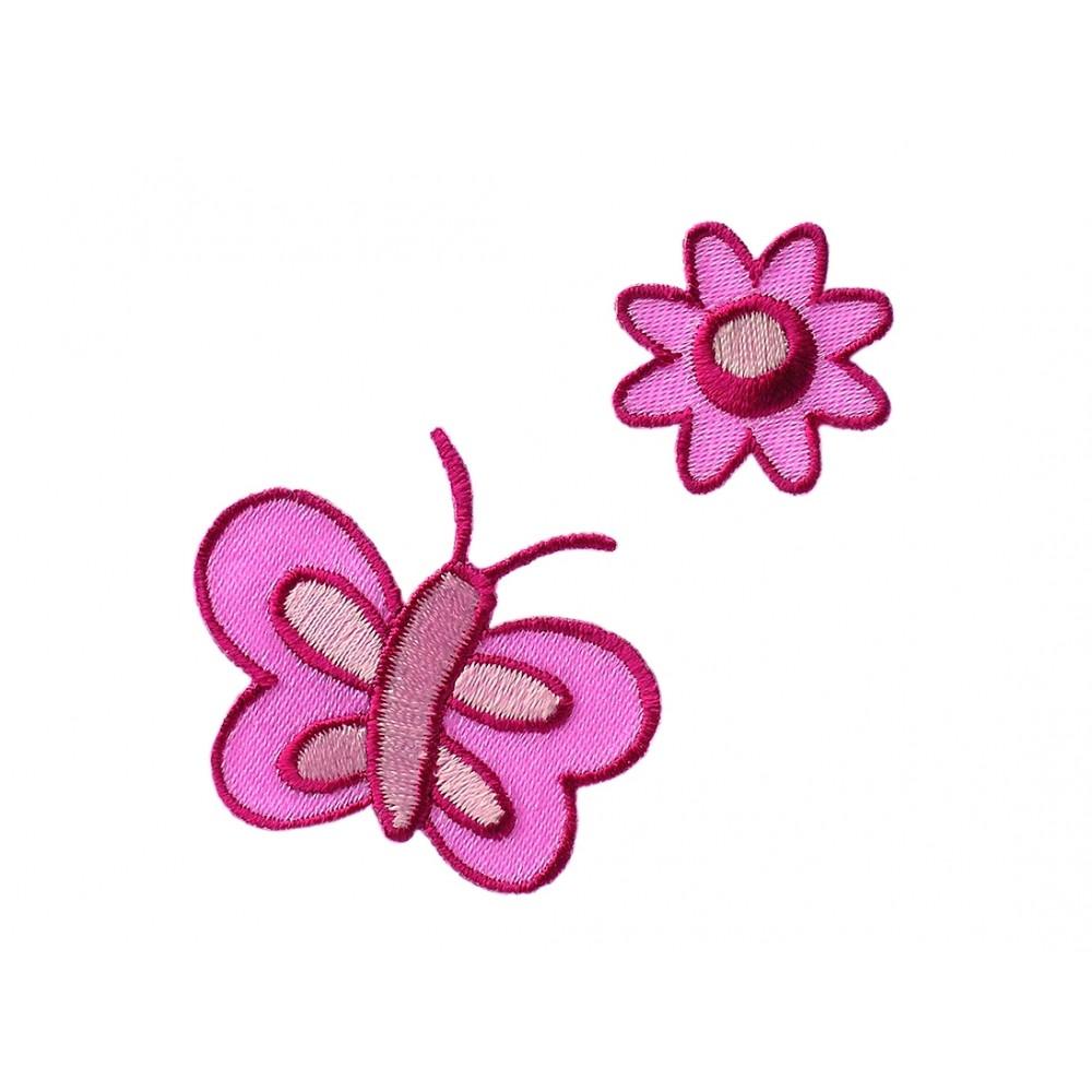 Bloem + vlinderroze