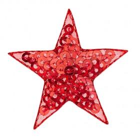 Étoiles paillettes rouge