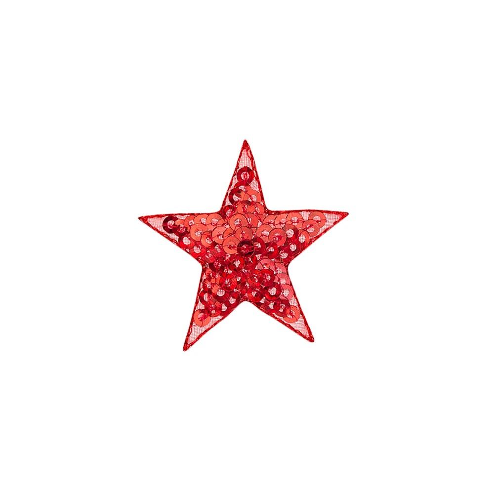 Stern Pailetten rot
