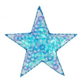 Star pailletten blauw