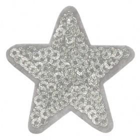 Star pailletten/glitter grijs