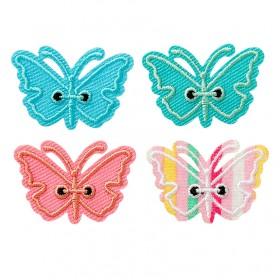 Vlinders veelkleurig 4 stuk