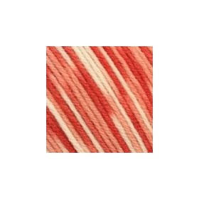 Sensitiva Print - 201 Lachs-Altrosa-Weiss