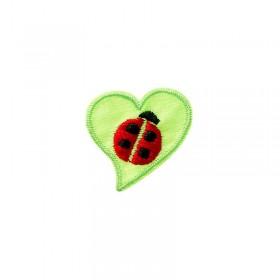 Lieveheersbeestje met hartblad