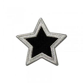 Stern silber/schwarz