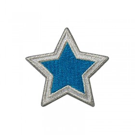 Stern silber/petrol