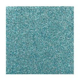 Glittervlekken turquoise