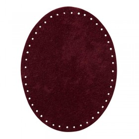 Patches suede berry, 1 paar
