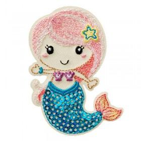 Meerjungfrau mit Pailletten