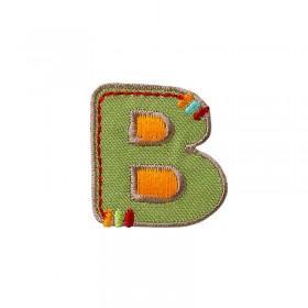 Lettre unique B colorée