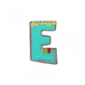 Lettre unique E colorée