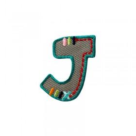 Lettre unique J colorée