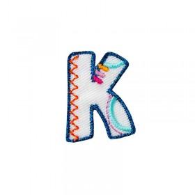 Lettre unique K colorée