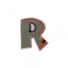 Lettre unique R colorée