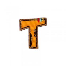 Lettre unique T colorée