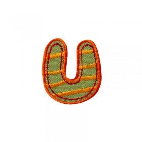 Lettre unique U colorée
