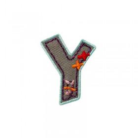 Lettre unique Y colorée