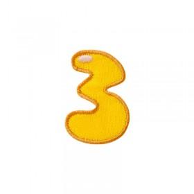Numéro unique 3 coloré