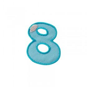Numéro unique 8 coloré