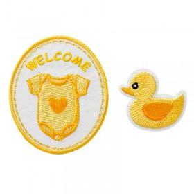 Welcome Baby jaune, 2 pcs.