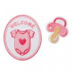 Welcome Baby rose, 2 pcs.