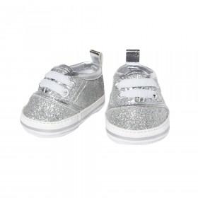 Glitzer-Sneakers, silber...