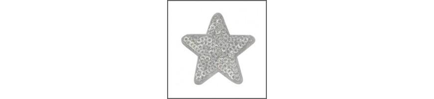 Sternenmotive als Bügelapplikation und Patches | Andrea Kreativ